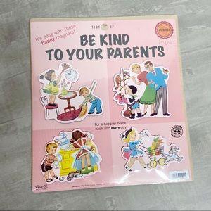 Blue Q Be Kind to Your Parents 4 magnet set NEW